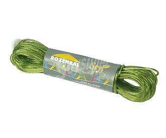 Rozenbal Bobina de cuerda para tender de plástico con núcleo de hilo de acero 20 Metros.