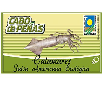 Cabo de Peñas Calamares en salsa americana ecológica Lata 65 g neto escurrido