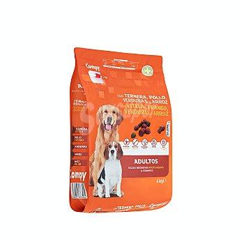Compy Comida de perro seca mix con ternera, pollo y verduras adulto razas medianas y grandes Paquete 4 kg