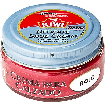 Kiwi Crema color rojo para calzado Tarro 50 ml