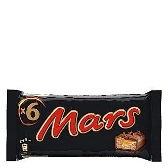 Mars Chocolatina de chocolate con caramelo y galleta Pack de 6 unidades x 45 g
