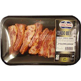 JULIAN MARTIN Costillas cortadas adobadas de cerdo ibérico bandeja peso aproximado 500 g