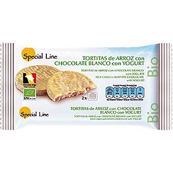 SPECIAL LINE Bio tortitas de arroz con chocolate con leche envase 100 g 4 unidades