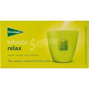 El Corte Inglés infusión relax con tila, azahar, melisa e hierba luisa 20 bolsitas estuche 30 g