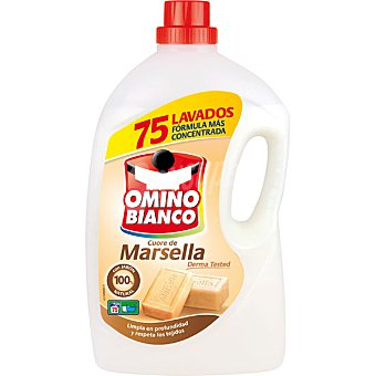 Omino Bianco Detergente máquina líquido al jabón de Marsella botella 75 dosis botella 75 dosis