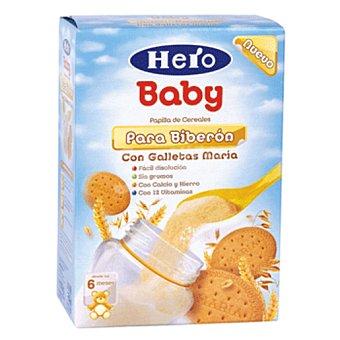 Hero Baby Papilla polvo con galleta para biberon a partir 6 meses Caja 600 g