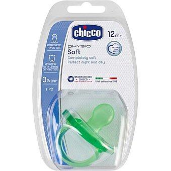 Chicco Chupete Physio Soft de 12m+ con tetina de silicona colores surtidos caja 1 unidad 1 unidad