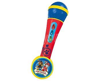 Patrulla Canina Micrófono de mano con amplificador, ritmos y luces, Reig 1 unidad