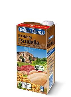 Gallina Blanca El Caldo de Escudella. 100% Natural - SIN gluten brik 1 litro