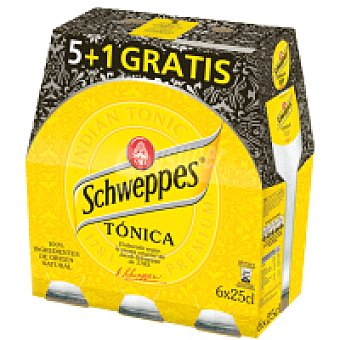 Schweppes Tonica Pack 5+1 x 25cl