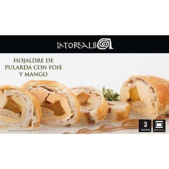 La Torralba Hojaldre de pularda con foie y mango 3 unidades estuche 500 g 3 unidades