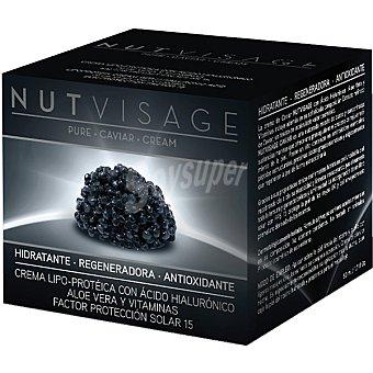 Nutvisage Crema de caviar hidratante regeneradora antioxidante FP solar 15 envase 50 ml