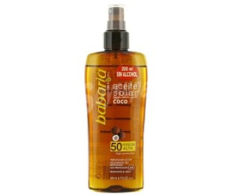 Babaria Aceite Coco en Spray Factor de Protección 50 200ml