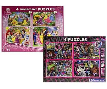 CLEMENTONI Set de 4 Puzzles Surtidos de 20, 60, 100 y 180 Piezas 1 Unidad