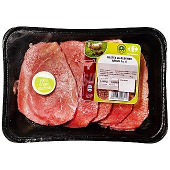 Carrefour Filetes finos de añojo en redondo para empanar o salsa C. y O. Bandeja de 450.0 g.