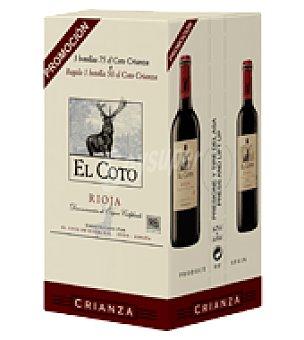 El Coto Vino D.O Rioja tinto crianza Pack de 3x75 cl