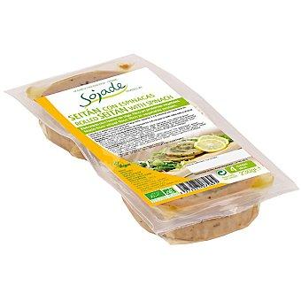 SOJADE seitán con espinacas ecológico  envase 230 g