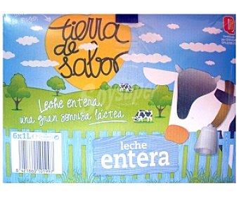 TIERRA DE SABOR Leche entera 6 Unidades de 1 Litro