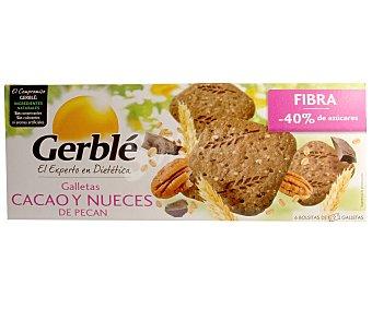 Gerblé Galletas de cacao y nueces de pecan, ricas en fibra 132 gramos