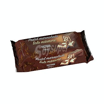 Hacendado Pastel de mármol de chocolate industrial Bandeja 400 g