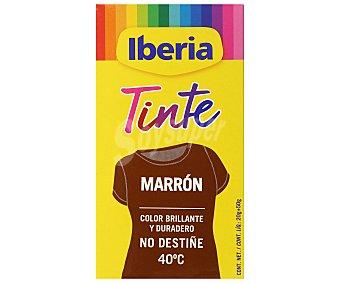 Iberia Tinte para ropa cambia el color marrón caja 2 sobres 2 ud