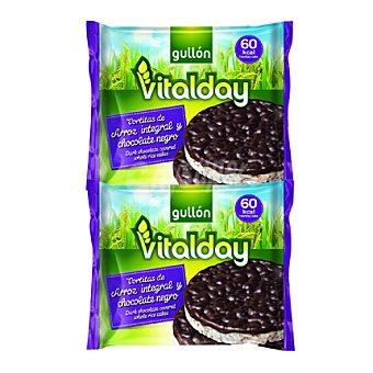 Gullón Tortitas de arroz integral y chocolate negro Vitalday 105,2 g