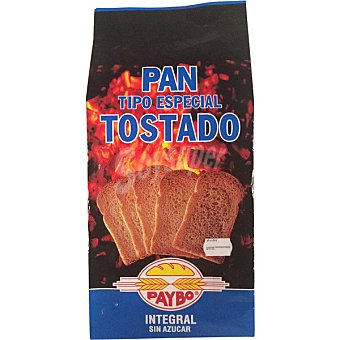 Paybo pan tostado integral sin sal Bolsa 250 g