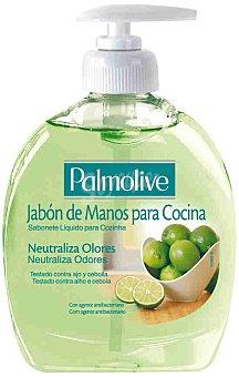 Palmolive Jabón líquido de manos neutralizador de olores con extracto de lima especial cocina Dosificador 300 ml