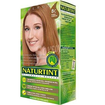 Naturtint Tinte rubio cobrizo 8C color permanente sin amoniaco caja 1 unidad 8C