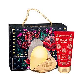 Flor de Mayo Lote mujer you are perfect colonia (vaporizador 75 ml) + crema corporal perfumada (bote 80 ml) Paquete 2 u