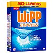 Detergente con quitamanchas en polvo 50 lavados 50 cacitos Wipp Express