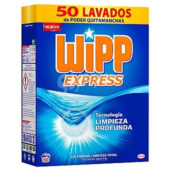 Wipp Express Detergente con quitamanchas en polvo 50 lavados