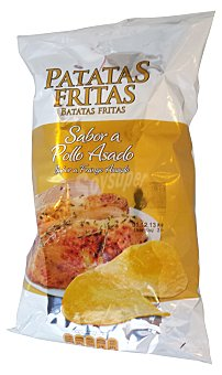 MUNCHOS Patatas fritas lisas pollo asado Paquete 120 g