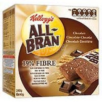 Kellogg's All bran All Bran barritas chocolate  6x40 gramos