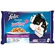 Fantastic Junior alimento húmedo para gatos surtido en gelatina hasta 12 meses Pack 4 x 100 g Purina Felix
