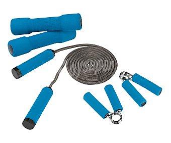 EDCO Set de fitness de 5 piezas; set de pesas, comba y set de handgrips, modelo Basic 1 Unidad
