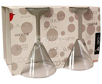 Auchan Pack de 4 copas para cócteles modelo Prime Time, con capacidad de 30,5 centilitros y fabricadas en cristal 1 Unidad