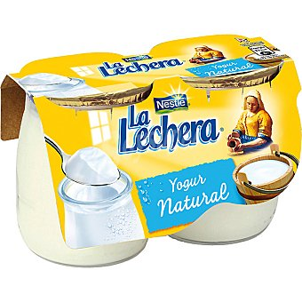 La Lechera Nestlé Yogur natural ds. 125 g Pack 2 un