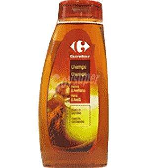 Carrefour Champú suave henna y avellana Bote de 500 ml