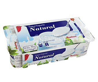Auchan Yogur natural 8 x 125 g