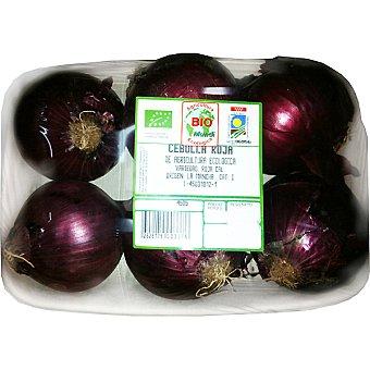 BIOMUNDI Cebollas moradas ecológicas peso aproximado Bandeja 1 kg