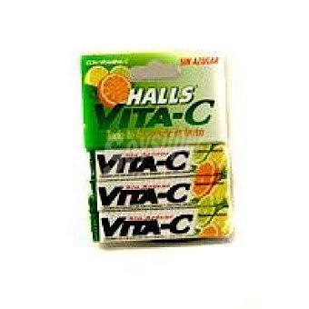 Halls Caramelos vitamina C cítricos sin azúcar Paquete 101 g