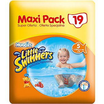 Little Swimmers Huggies Bañador desechable Maxipack talla 5, 11-18 kg   Paquete 19 unidades