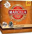 Cápsulas nespreso café largo 20 unidades Marcilla