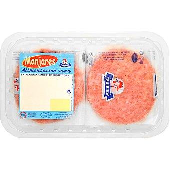 PUJANTE Hamburguesas de pollo bandeja 335 g 4 unidades