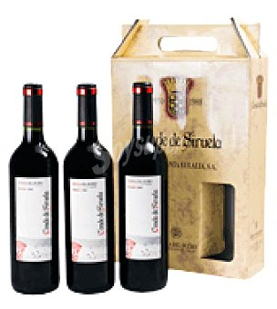 CONDE de SIRUELA Estuche de vino tinto roble D.O. Ribera del Duero Pack de 3x75 cl