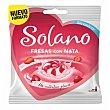 Caramelo fresa con nata Bolsa 99 g Solano
