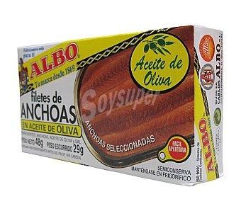 Albo Filetes de anchoa en aceite de oliva Lata 29 g neto escurrido
