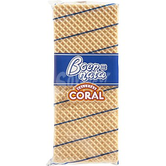 Galletas Coral Galleta de barquillo relleno de nata Paquete 330 g