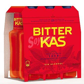 Bitter Kas Refresco Bitter sin alcohol 6 botellines x 20 cl